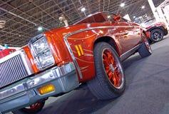 Orange American car Stock Image