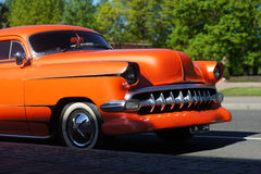 Orange American Car Royalty Free Stock Image