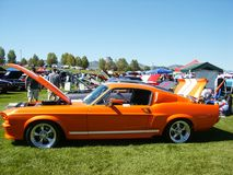 Orange American Muscle Car Stock Photo