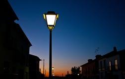 Orange And Blue Sunset Royalty Free Stock Photo