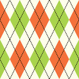 Orange And Green Argyle Royalty Free Stock Photography