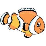 Orange anemonefish cartoon Stock Images
