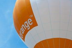 Orange annonçant le ballon à air chaud Photo stock