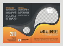 Annual Report Cover Template Design Royalty Free Stock Photography