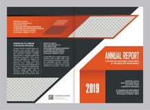 Annual Report Cover Template Design Royalty Free Stock Image