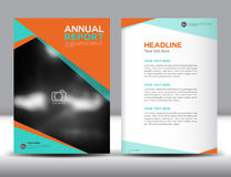 Orange Annual report template vector illustration Royalty Free Stock Images