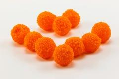 Orange anstrykning för gelé Arkivfoton