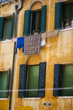 Orange apartment building, Venice Royalty Free Stock Photo