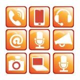 Orange apparater Arkivbilder