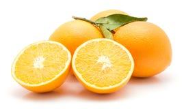 Orange, appelsin d'isolement Photos libres de droits