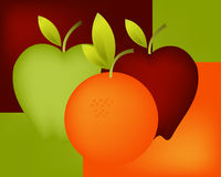Orange and Apple 04 Stock Image