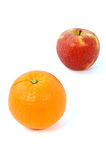Orange and apple Royalty Free Stock Photography