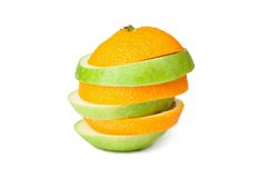 Orange-apple Royalty Free Stock Photography