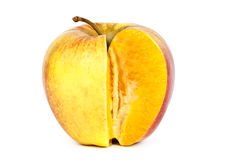 Orange in apple Royalty Free Stock Photo
