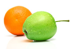 Orange and apple Royalty Free Stock Image