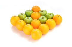 Orange and apple green in arrow shape Royalty Free Stock Images