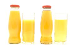 Orange and Apple Juice Royalty Free Stock Image