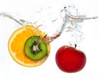 Orange apple kiwi royalty free stock image