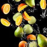 Orange and apples Royalty Free Stock Photos