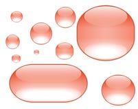 Orange aqua bubbles Stock Photos