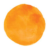 Orange Aquarellflecke Stockbild
