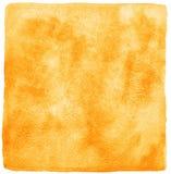 Orange Aquarellhintergrund mit ungleichen Rändern Stockfotos
