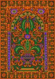 Orange arabe de fleur de fresca de tuile Photos libres de droits