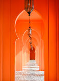 Orange arch door Royalty Free Stock Photos
