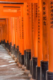 Orange Arches of Inari Shrine Royalty Free Stock Photography
