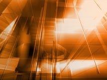 Orange architecturale Images libres de droits