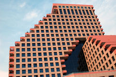 Orange architecture. Modern orange architecture stock image