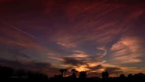 Orange Arizona solnedgång arkivfilmer