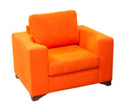 Orange armchair Royalty Free Stock Photography