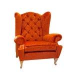 Orange armchair Stock Image