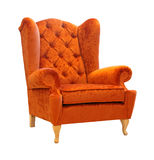 Orange armchair Royalty Free Stock Photos