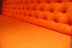 Orange armchair Stock Photo