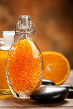Orange Aromatherapy - bath salt Royalty Free Stock Image
