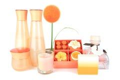 Orange aromatic spa set Stock Photography