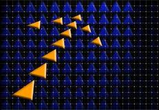 Orange arrow Stock Images