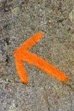 Orange arrow Royalty Free Stock Image