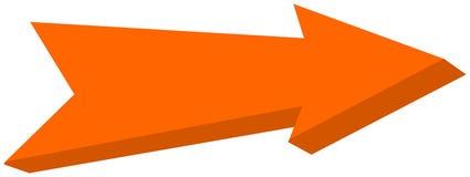 Orange arrow pointed - 3D Illustration. Orange arrow pointed , its a Illustration Royalty Free Stock Image