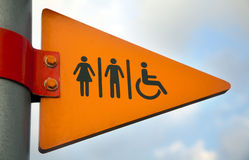 To the Restrooms Royalty Free Stock Image