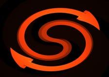 Orange Arrow Spin Royalty Free Stock Photography