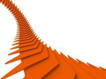 Orange arrows royalty free illustration