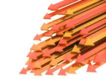 Orange arrows diagonal Royalty Free Stock Images