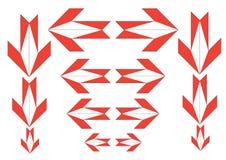 Orange arrows. Orange eight sided arrows with background royalty free illustration