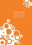 Orange. Art vector circles background Stock Images