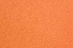Orange Artificial Leather Background Texture Close-Up Royalty Free Stock Photos