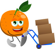 Orange as delivery man Royalty Free Stock Photo
