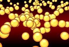 Orange atoms. 3d atoms Stock Image